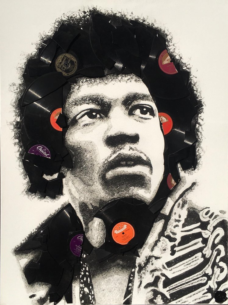 Jimi Hendrix by Ben Riley
