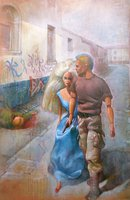 action man and barbie doll paintings