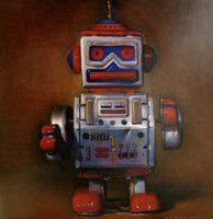 Vintage robot painting