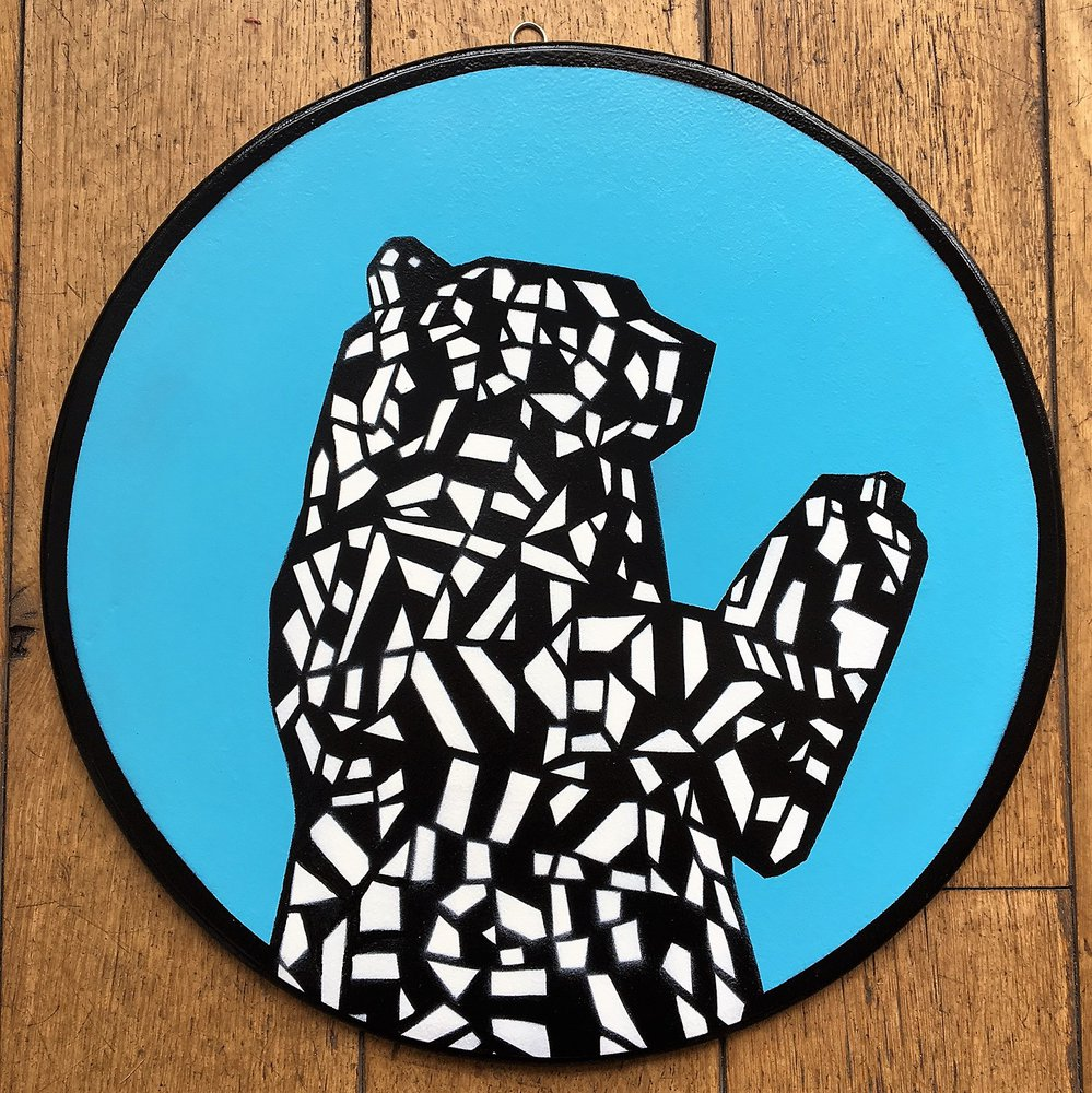 Bristol Bear - Blue (More colours available on request) by Jamie Gillman