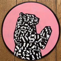 Bristol Bear - Pink (More colours available on request) by Jamie Gillman