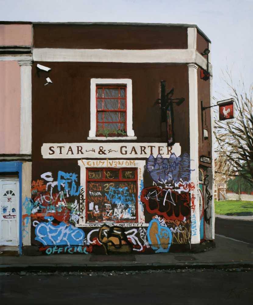 the Star and Garter pub, Brook Road, Montpelier, Bristol. by Tom White.