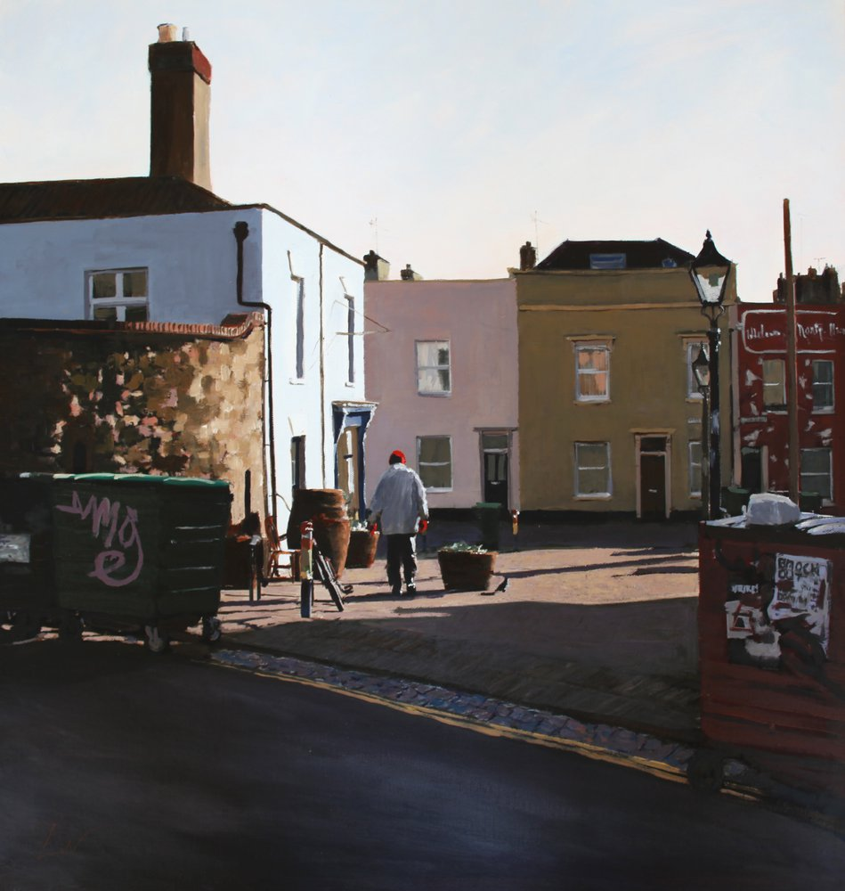 A painting of Bell's Diner, Picton Street, Montpelier, Bristol by Tom White.
