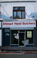 A painting of Ahmed Halal Butchers, Stapleton Road, Easton, Bristol